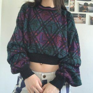 Vintage Crop Sweater